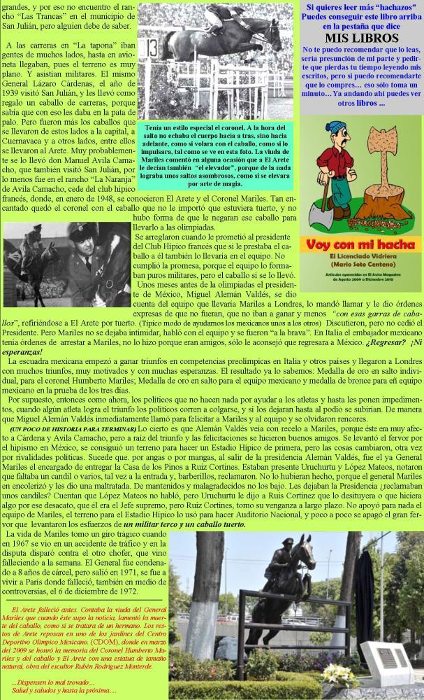 Un caballo tuerto y un militar terco... (2/2)