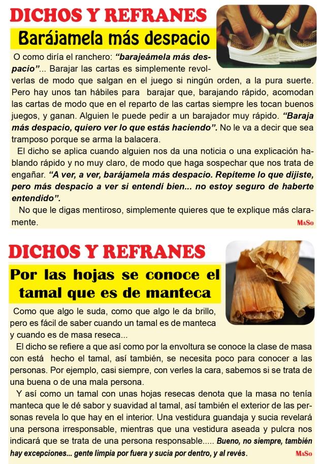DICHOS Y REFRANES 2